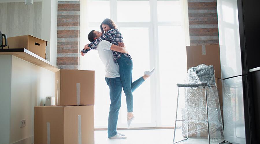 Couple ayant eu des aides pour le premier achat